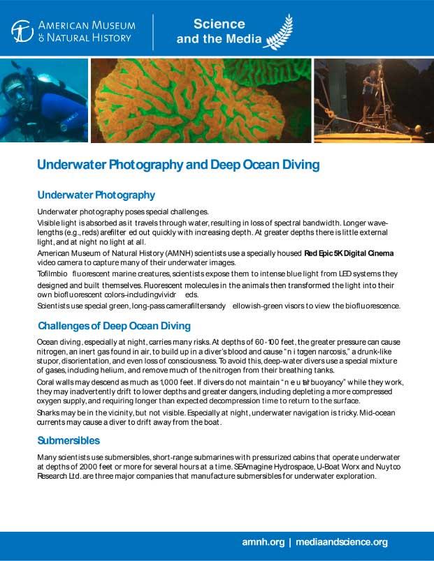 Underwater Photography and Deep Ocean Diving