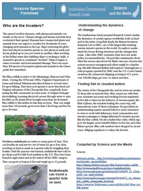Invasive Species Fact Sheet